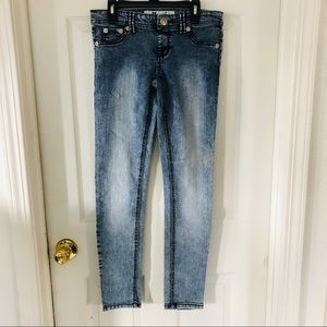 WET SEAL low rise acid wash skinny jeans SZ small